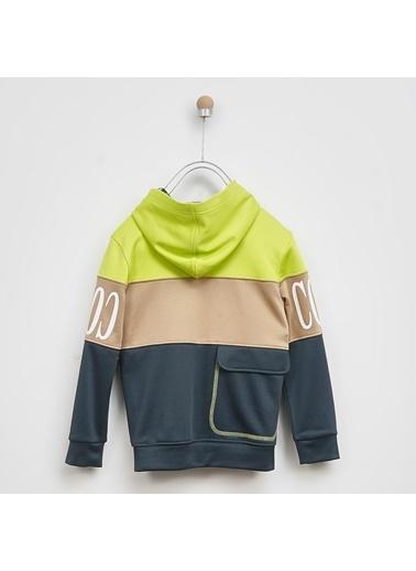 Panço Erkek Çocuk Kapşonlu Sweatshirt 2021BK08002 Yeşil